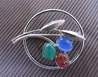 Sterling Scarab Brooch Item W-#284