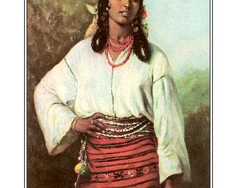 Gypsy Girl, Thedor Aman, 1884, Romania, BoHo,  bohemian art, canvas art, gypsy woman,