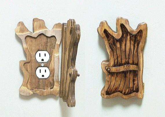 Items similar to old tree wood fairy elf halfling door for Wooden fairy doors to decorate