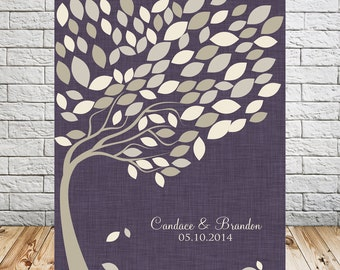 Wedding Leaf Alternative Guest Book Tree Print, Wedding Signature Tree, Guest Book Wedding Tree, Guestbook Alternative, 100 Guests