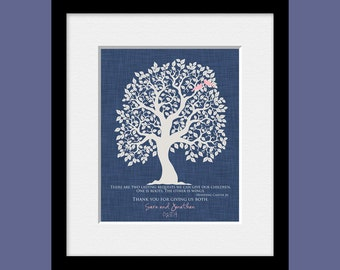 "Unique Thank You Print, Roots and Wings Quote, ""Thank You For Giving Us Both"", Thank You Wall Print, Parents Keepsake Gift"