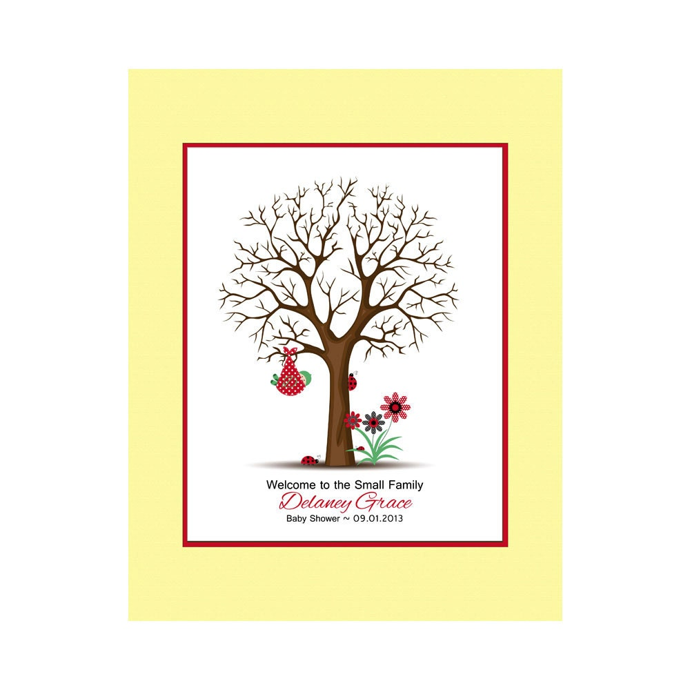 baby shower thumbprint tree guestbook alternative baby