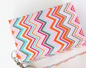 Iphone 6 purse, galaxy mega wristlet, cell phone wallet, iphone 5, htc one mini, lg g3, galaxy s5, nexus 5, amazon fire, pastel chevron