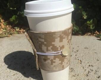 Marines Desert Camo Coffee Cozy