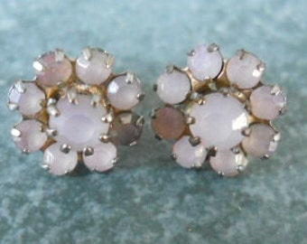Dainty Milky-Pink Flower Post Earrings