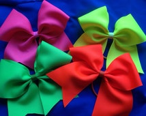 """Cheer bows-  the Neon """"set"""""""