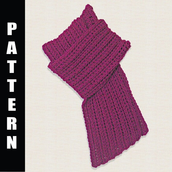 Crochet Pattern, Scarf Pattern, Pattern Neck Warmer, Crochet Fashion ...
