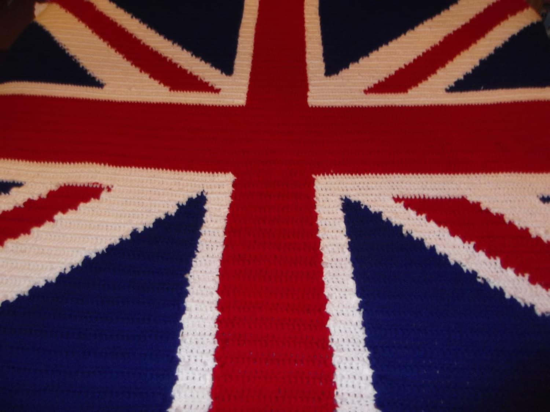 Crochet Pattern Union Jack : Crochet Union Jack blanket Pattern