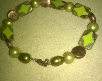 Chartreuse Picasso Bracelet