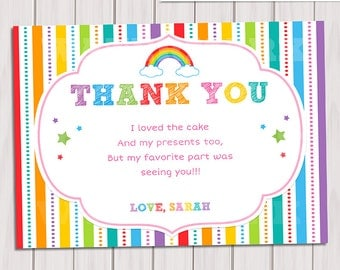 view thank you card / note by thepartytown on etsy, Birthday card