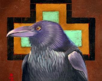 CROW CROSSING - raven, crow, native american, indian, corvid, love