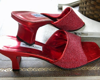 Sasha of London Gorgeous Beaded Shoes ca 1980's. Red Carpet all the Way!