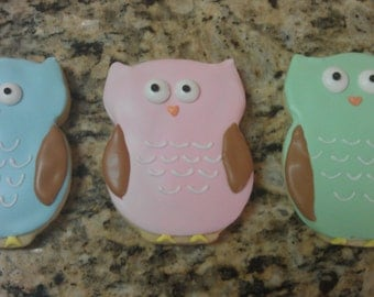 Owl cookies First Birthday Baby Shower