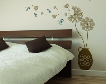 Dandelion Blowing in the Wind Wall Sticker - Wall Decals - Wall Graphics - Vinyl Wall Sticker