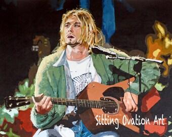 Kurt Cobain Nirvana Print
