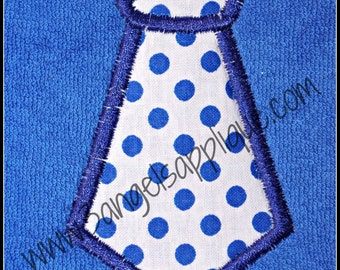 Neck tie applique design 3 sizes INSTANT DOWNLOAD