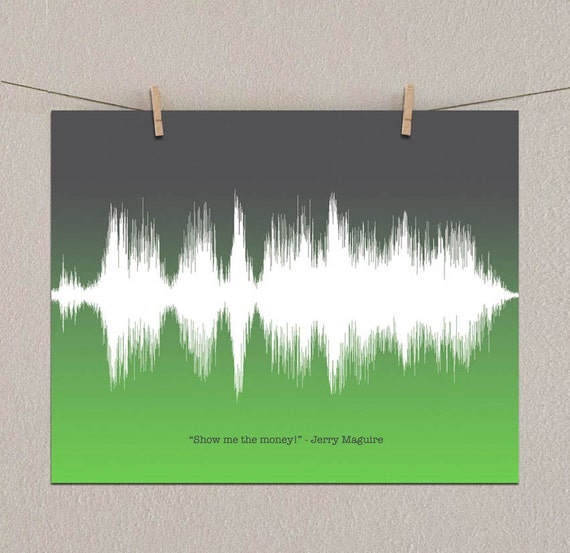 Jerry Maguire Movie Quotes: Jerry Maguire Show Me The Money Sound Wave Art By