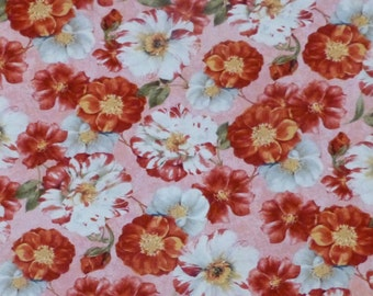 Cotton Fabric, Quilt Fabric, Home Decor, Scentimental, Wilmington Prints, 86338-331, Roses, Floral,Fast Shipping, F119