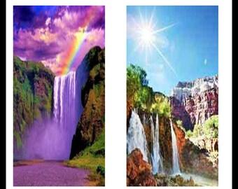 Waterfalls - Nature - Jpeg Download - Digital Download Sheet - Collage Sheets - Dominoes - Dominoe Jewelry - Stickers - DDP169