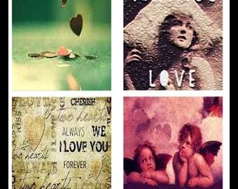 Vintage - Love - Digital Download Sheets - Digital Collage Sheets - Scrabble Sheets - Scrabble Tiles - Vintage Love - Jewelry - DDP493