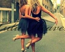 BLACK Tutu . XSmall thru XLarge Size Adult Ballet Tutu Skirts . Girls Teens Adults