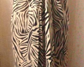 Sheer Across the Shoulder Zebra Pattern Dress