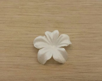 5 pc snow white, BRIDAL FABRIC FLOWERS, petals