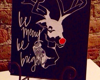 Chalkboard holiday sign