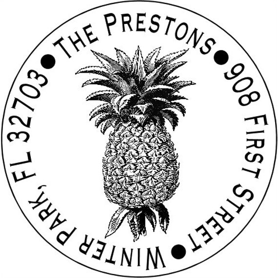 Personalized Pineapple Address Labels, Gift tags, Party Favor Labels, Birthday Labels, etc.