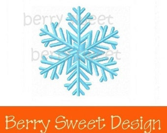 snowflake winter machine embroidery design