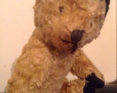 Vintage 1930s Small Wood Wool Stuffed Sooty Bear