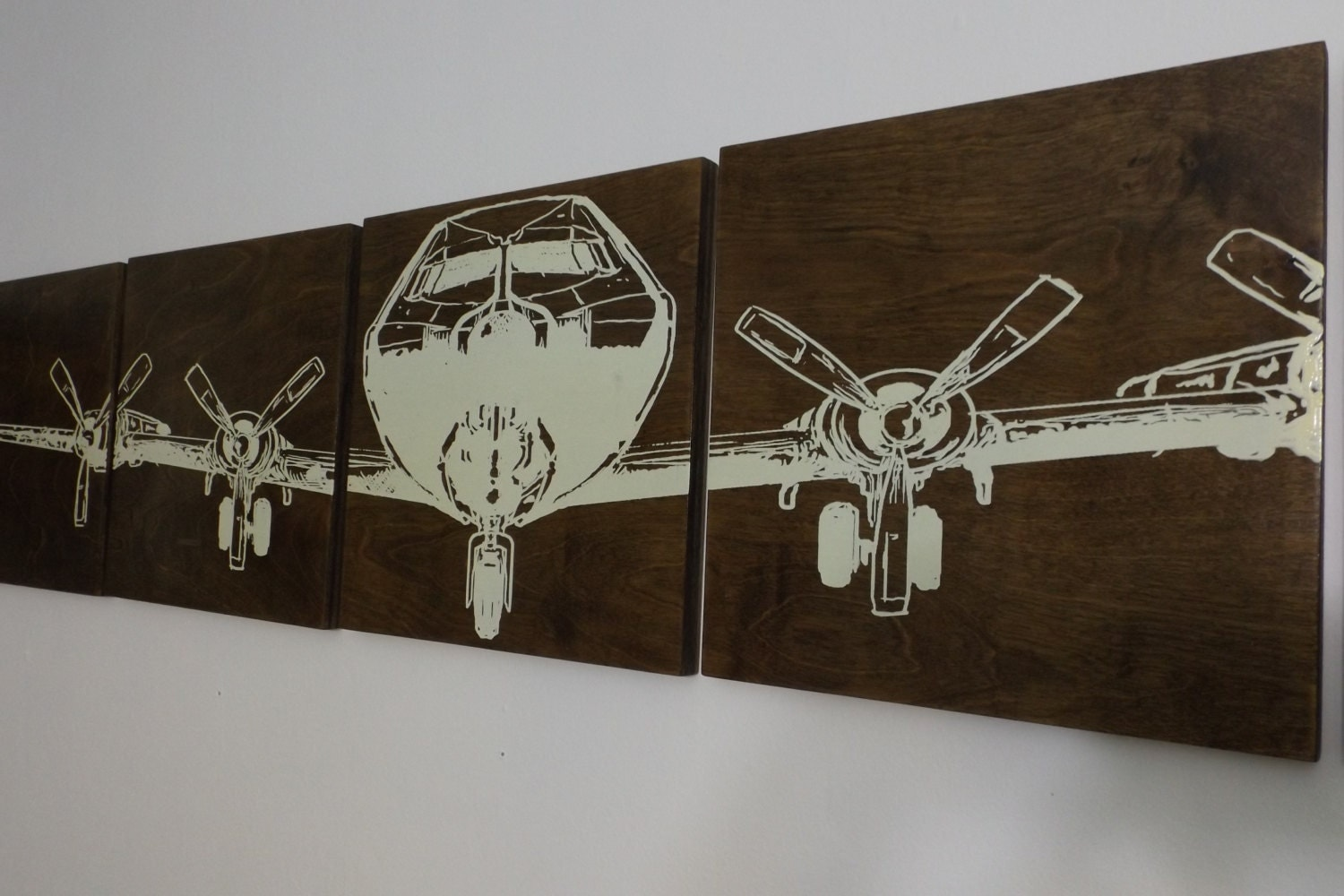Vintage Plane Wall Decor : Airplane wall art ww wood vintage