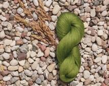 Linen Yarn, Grass Moss Green Skein, High Quality, Linen Yarn For Crochet, Knitting