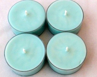 Ocean Breeze Tea candles, scented soy candles, tealight candles, scented tea lights, soy tealights, container candle, soy wax candle