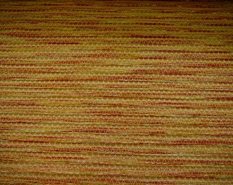Woven jacquard with textured chenille stripes