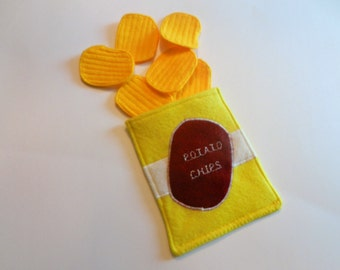 Felt Potato Chips & Bag Set
