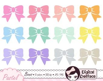 Digital Bow Clipart, Graphic Ribbon, Clip Art Bows, Scrapbook Embellishment