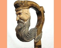 Walking Stick Cane King Perfect Hand Carved Wooden wood handcarved crafted (about 40 kinds of canes in store!)