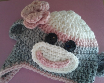 Newborn Sock Monkey Hats