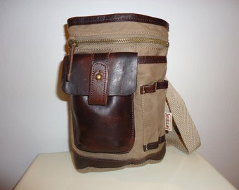 Really Nice Canvas and Leather Crossbody/Shoulder Bag(10% Off Coupon at Checkout)