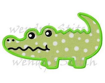Alligator applique machine embroidery design digital pattern