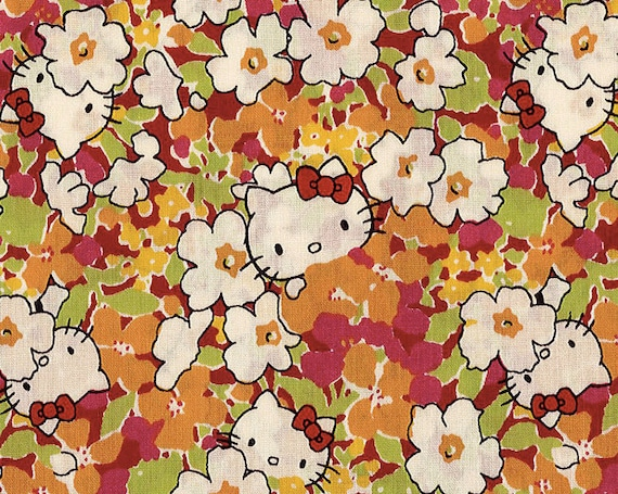 Liberty X Hello Kitty Limited - Kakurenbo - Tana Lawn - Orange