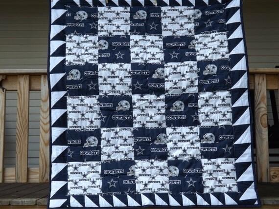 Dallas Cowboys Custom Handmade Quilt For Games Travel Or