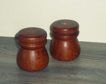 Wooden Salt and Pepper Shakers, Vintage Swedish, Scandinavian Design, Mid Century Modern @63