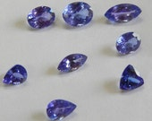 100% natural 13.65 cts 8 pcs Faceted blue tanzanite loose gemstone amazing blue color untreated tanzanite