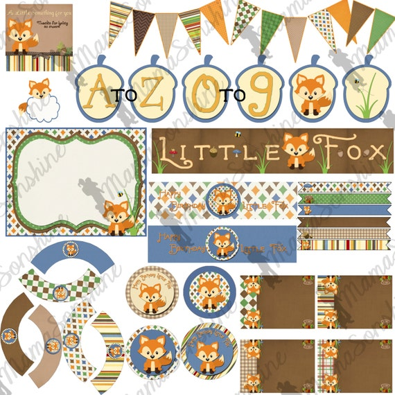 Happy Birthday Little Fox Party Decorations
