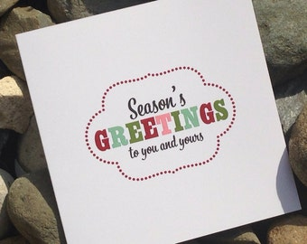 Christmas Cards, Holiday Card Set, Personalized Christmas Cards - Seasons Greetings to You and Yours