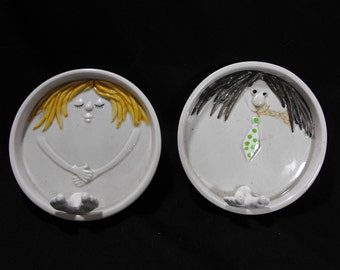 Fitz & Floyd His and Her Ashtrays