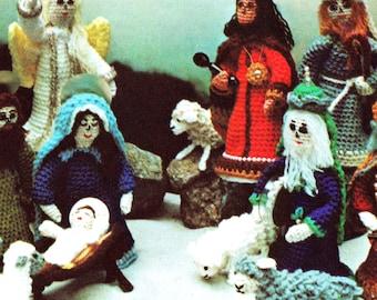DIGITAL DOWNLOAD PDF Vintage Crochet Pattern  Christmas Nativity Creche  Bible Story