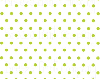White with lime polka dots craft  vinyl sheet - HTV or Adhesive Vinyl -  polka dot pattern   HTV17